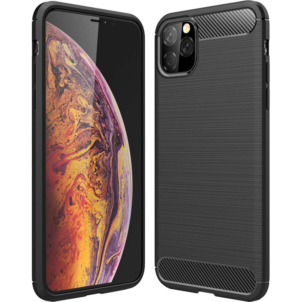 Husa Capac Spate Carbon Negru APPLE iPhone 11 Pro Max