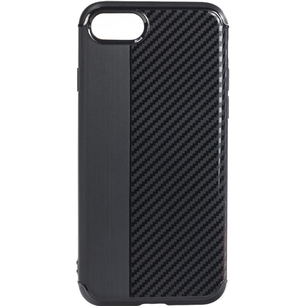 Husa Capac spate Carbon Negru Apple iPhone 7, iPhone 8