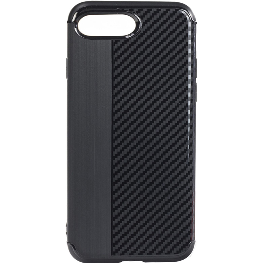 Husa Capac Spate Carbon Negru Apple iPhone 7 Plus, iPhone 8 Plus