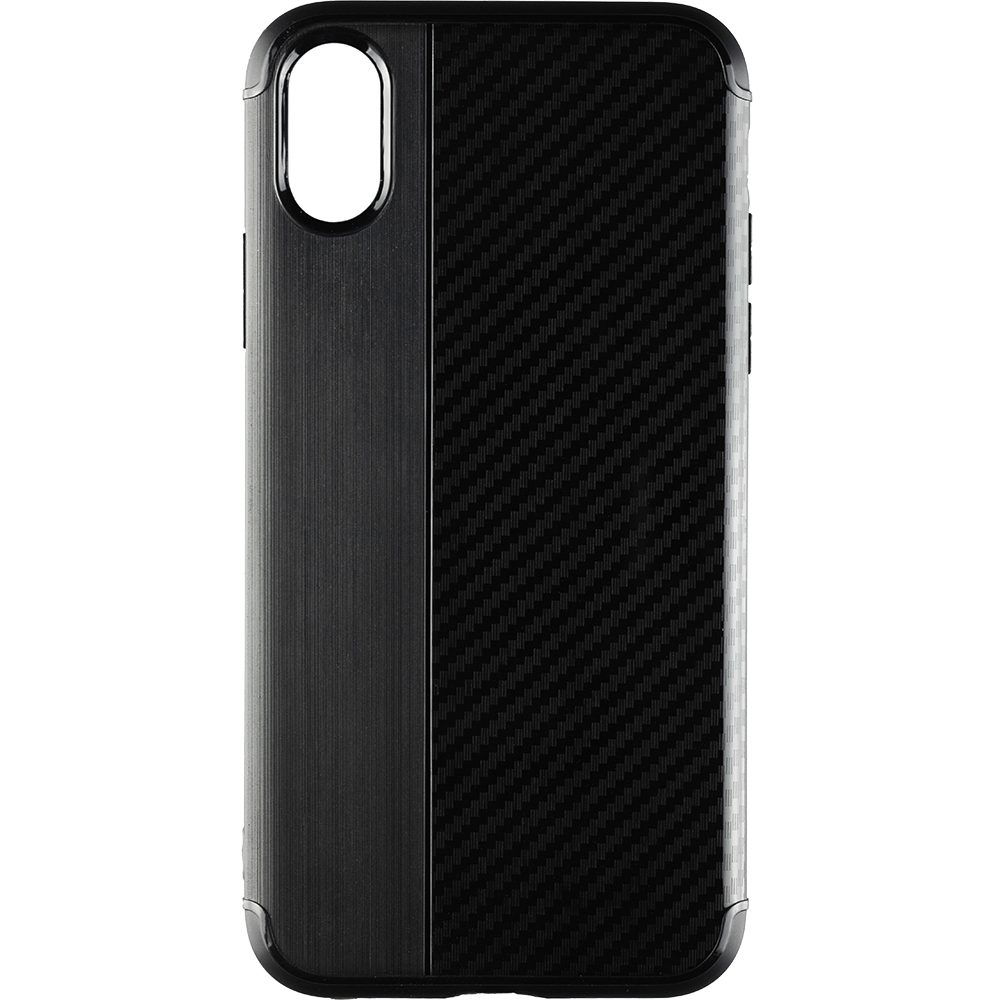 Husa Capac Spate Carbon Negru APPLE iPhone X, iPhone Xs