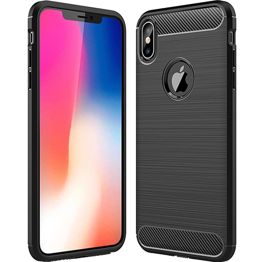 Husa Capac Spate Carbon Negru APPLE iPhone Xs Max