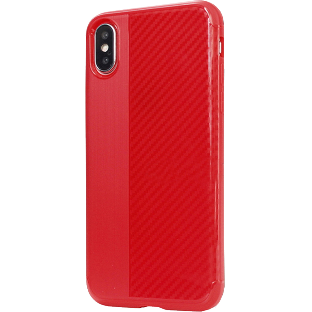 Husa Capac Spate Carbon Rosu APPLE iPhone X, iPhone Xs