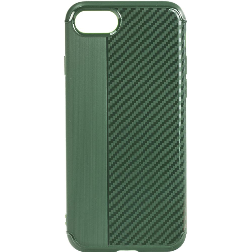 Husa Capac Spate Carbon Verde Apple iPhone 7, iPhone 8, iPhone SE 2020
