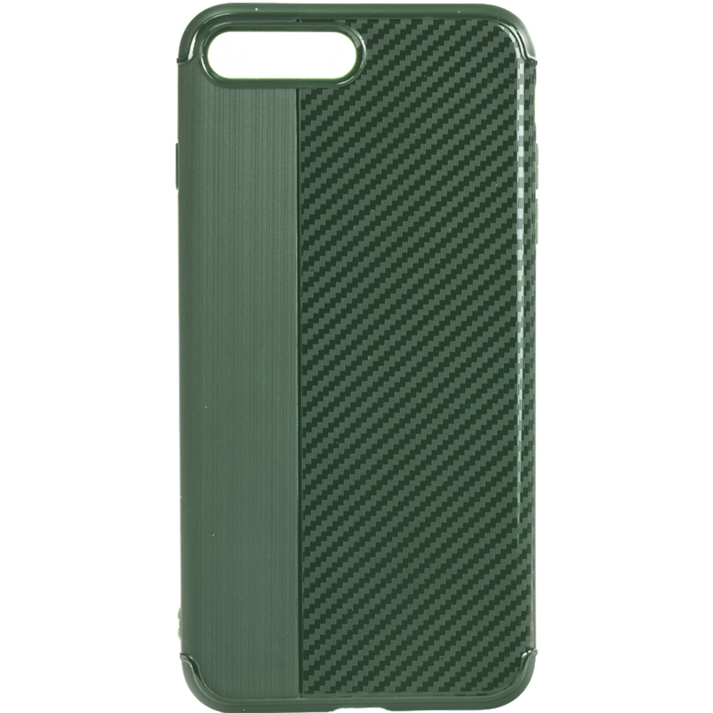 Husa Capac Spate Carbon Verde Apple iPhone 7 Plus, iPhone 8 Plus