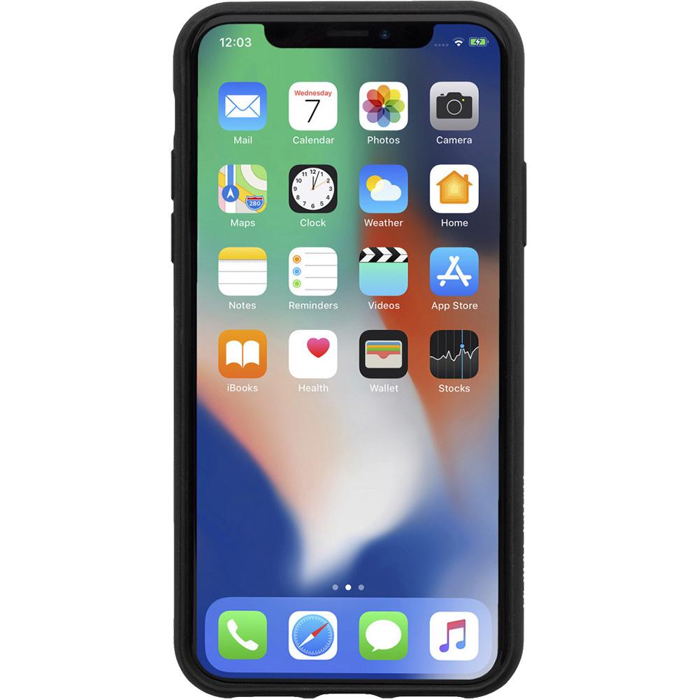 Husa Capac Spate Clic Terrazzo, calitate super premium,  Negru APPLE iPhone X, iPhone Xs