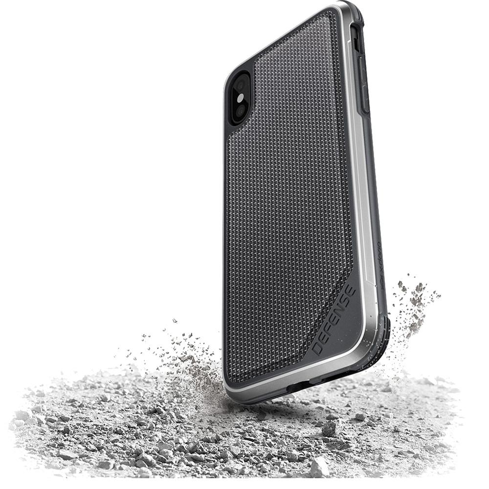 Husa Capac Spate Defense Lux Negru APPLE iPhone X, iPhone Xs
