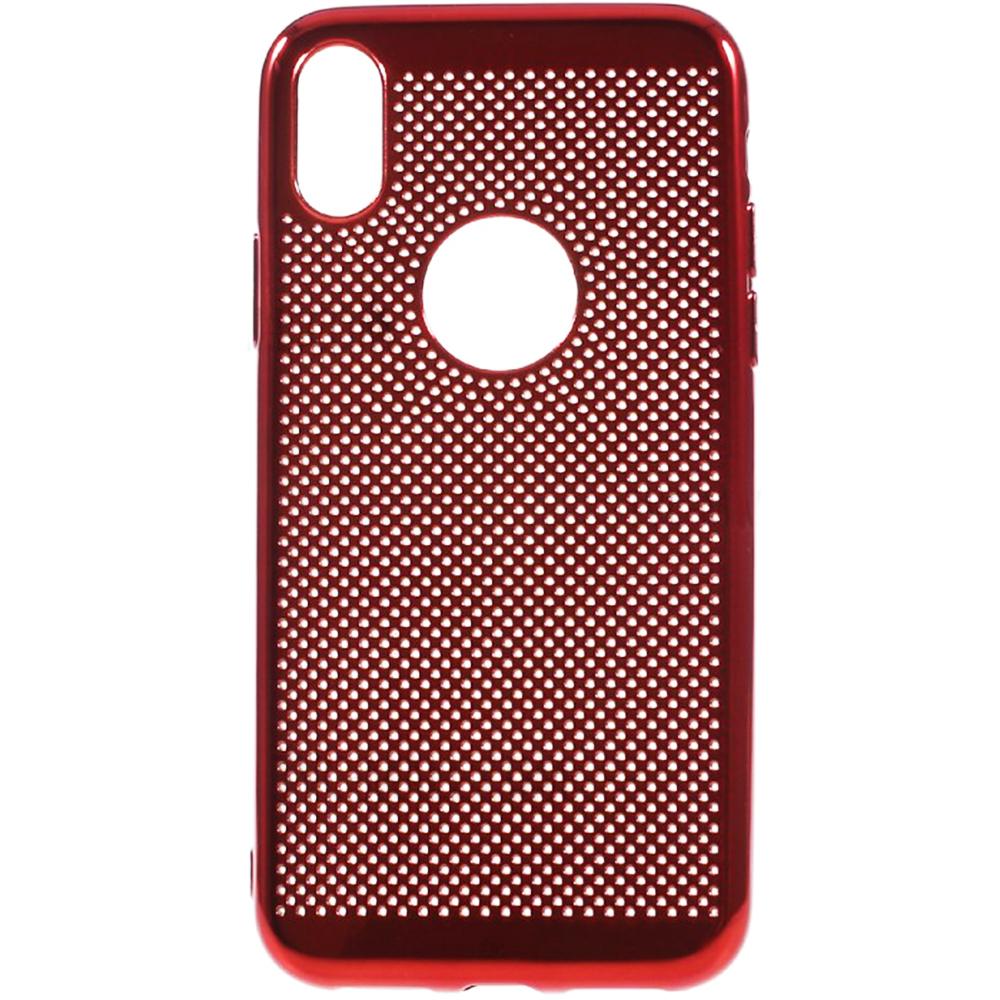 Husa Capac Spate Dot Rosu APPLE iPhone X, iPhone Xs