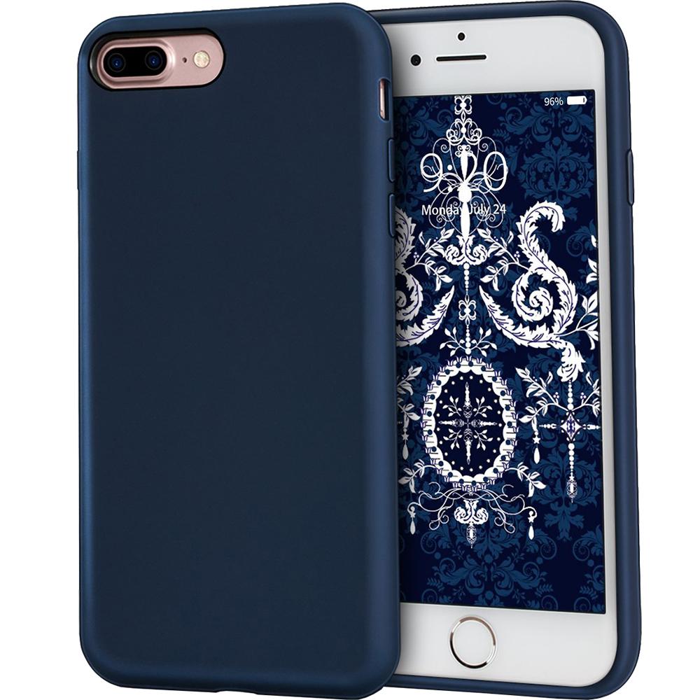 Husa Capac Spate Flexibila Albastru Apple iPhone 7 Plus, iPhone 8 Plus