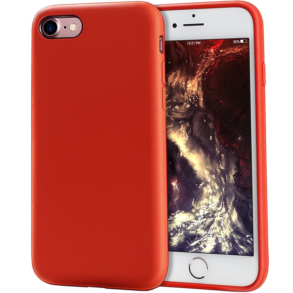 Husa Capac Spate Flexibila Rosu Apple iPhone 7, iPhone 8, iPhone SE 2020