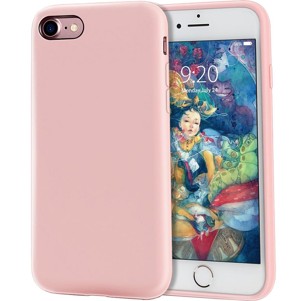 Husa Capac Spate Flexibila Roz Apple iPhone 7, iPhone 8, iPhone SE 2020