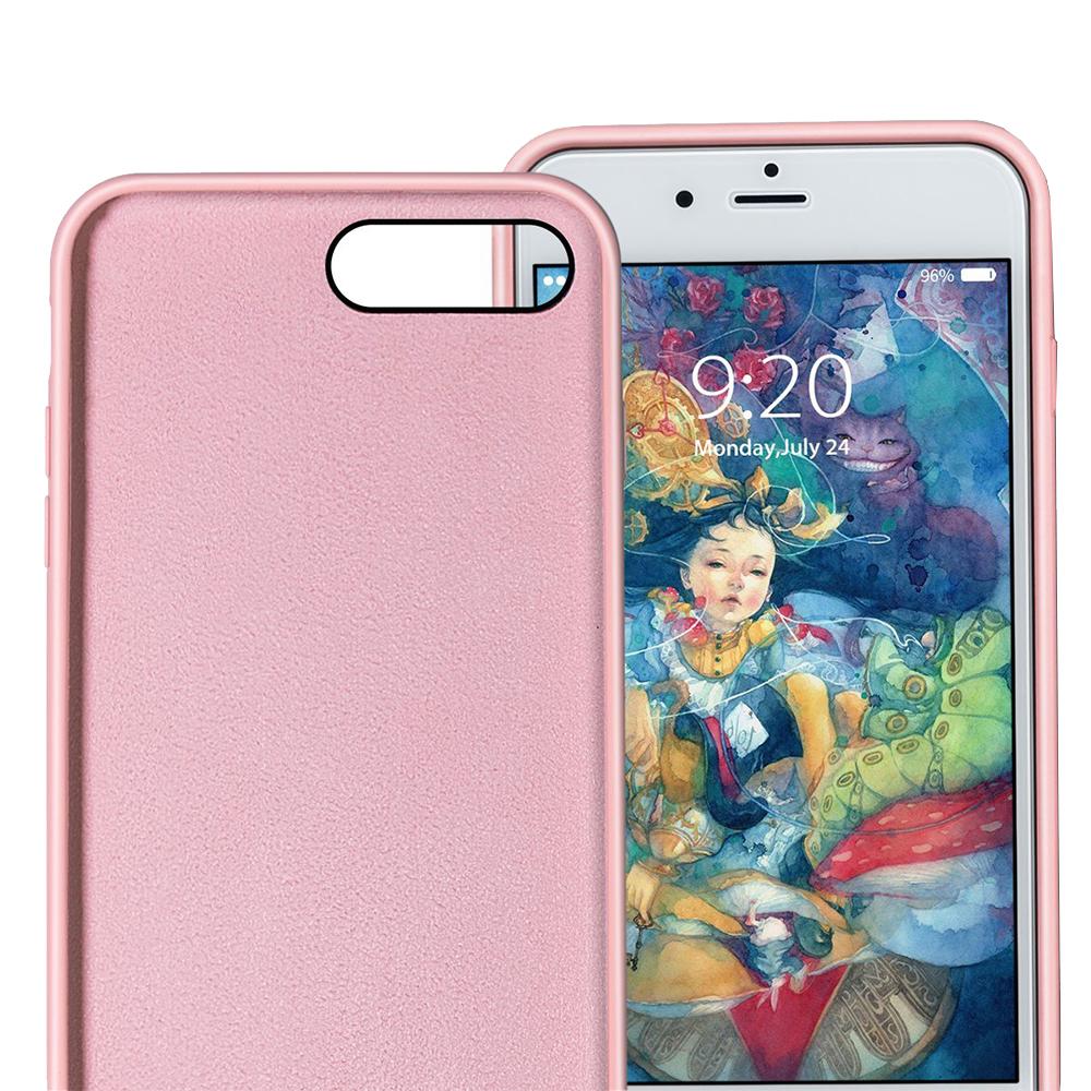 Husa Capac Spate Flexibila Roz Apple iPhone 7 Plus, iPhone 8 Plus