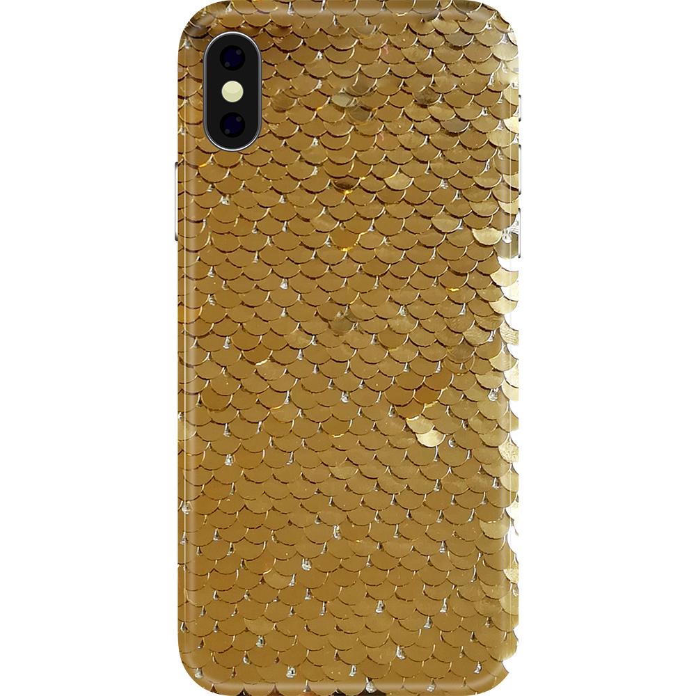 Husa Capac Spate Glitter Argintiu APPLE iPhone XR