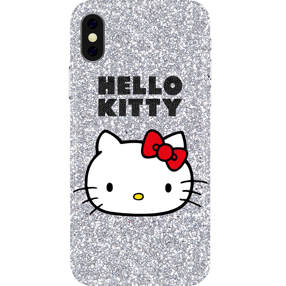 Husa Capac Spate Glitter Hello Kitty APPLE iPhone Xs