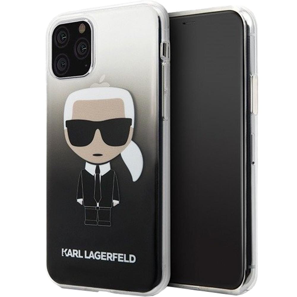 Husa Capac Spate Iconic Gradient Negru APPLE iPhone 11 Pro