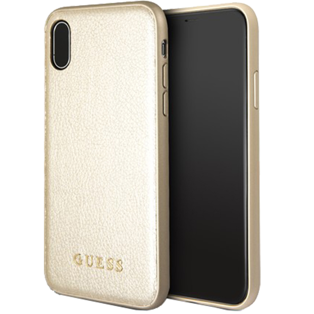 Husa Capac Spate Iridescent Piele Auriu APPLE iPhone X, iPhone Xs