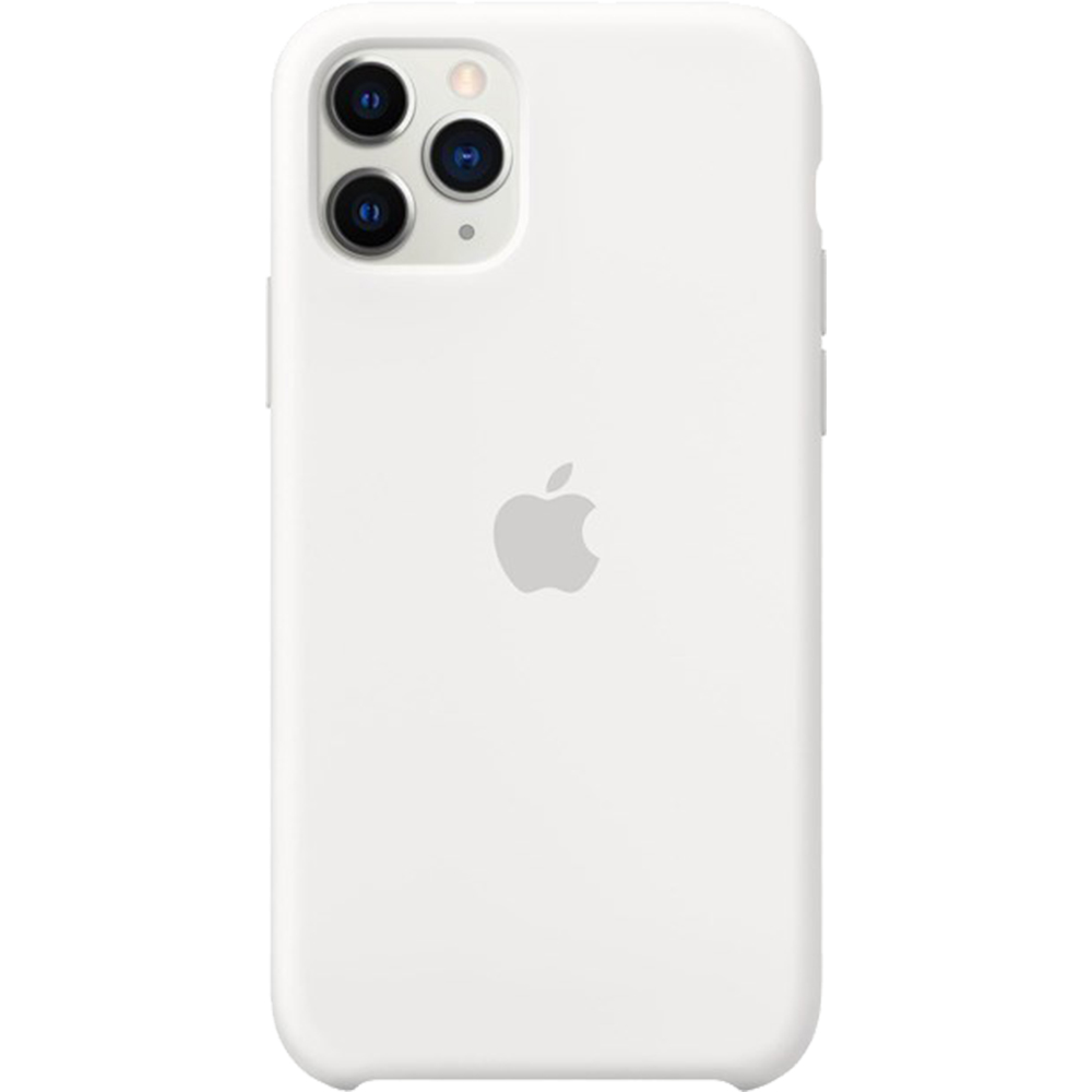 Husa originala din Silicon Ivory Alb pentru Apple iPhone 11 Pro