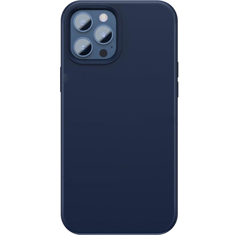 Husa Capac Spate Liquid Silica Gel Magnetic Albastru APPLE Iphone 12 Pro Max