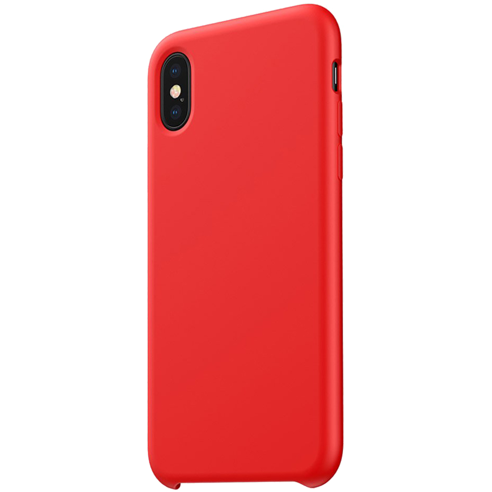 Husa Capac Spate LSR Silicon Rosu APPLE iPhone Xs Max