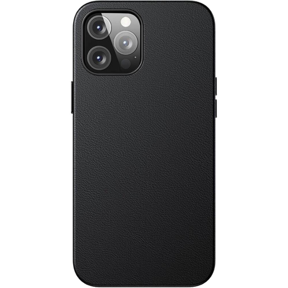 Husa Capac Spate Magnetic Leather Case Negru APPLE Iphone 12 Pro Max