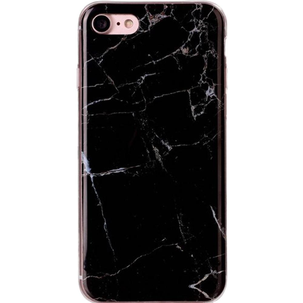Husa Capac Spate Marble Negru APPLE iPhone 8