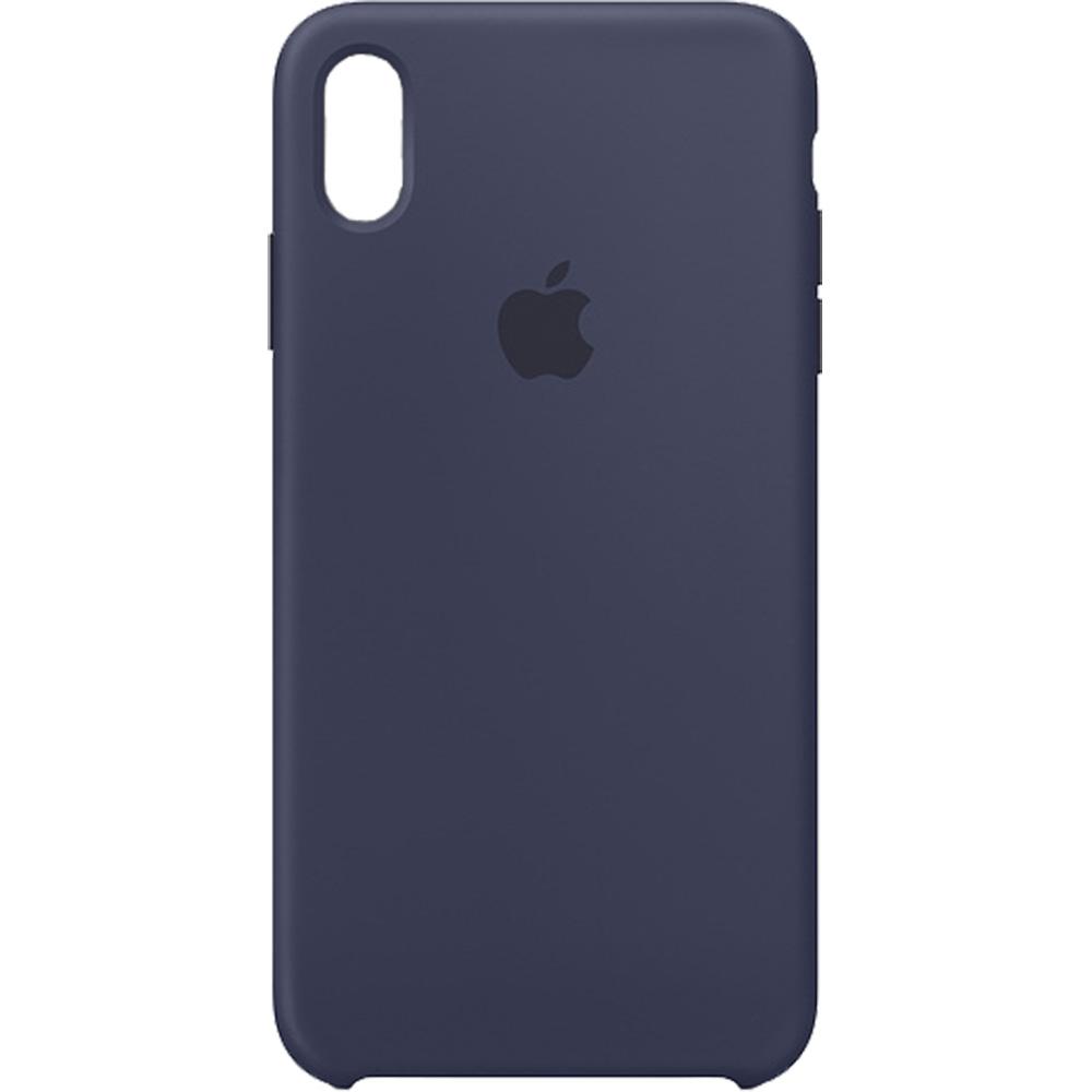 Husa originala din Silicon Midnight Albastru pentru APPLE iPhone Xr