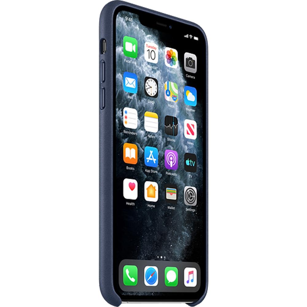 Husa originala din Piele Midnight Albastru pentru Apple iPhone 11 Pro Max