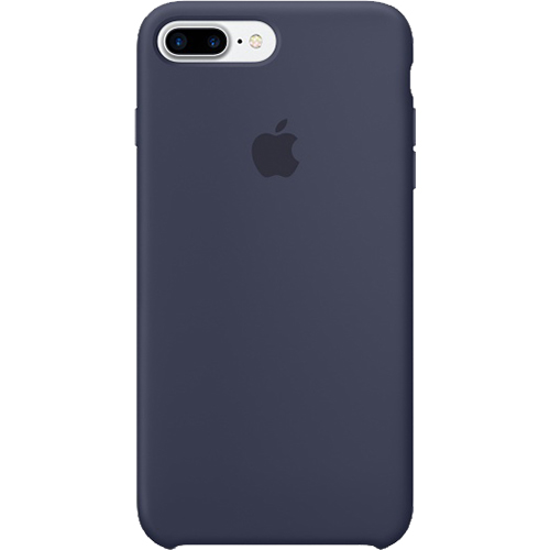 Husa originala din Silicon Albastru pentru Apple iPhone 7 Plus si iPhone 8 Plus