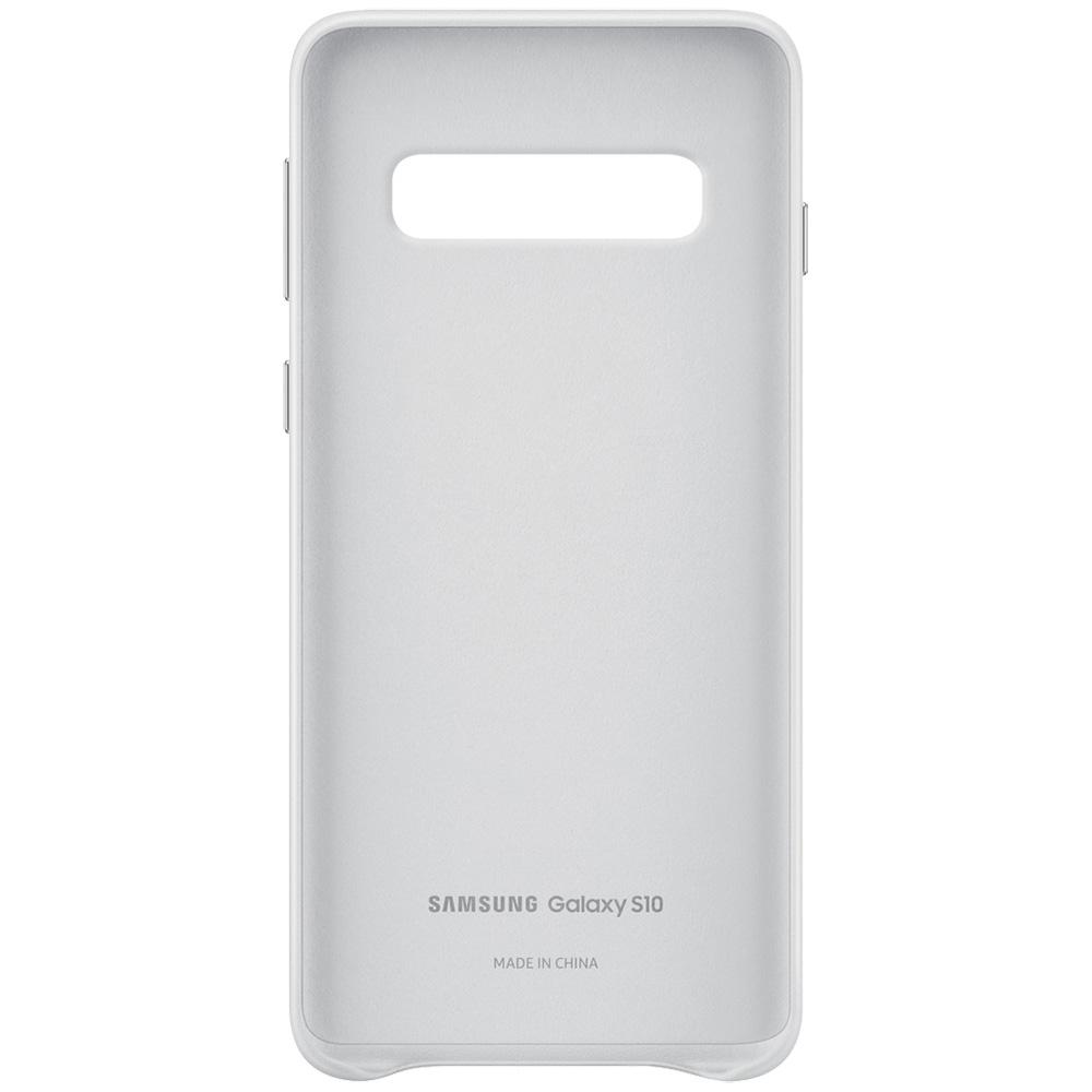 Husa Capac Spate Piele Alb SAMSUNG Galaxy S10