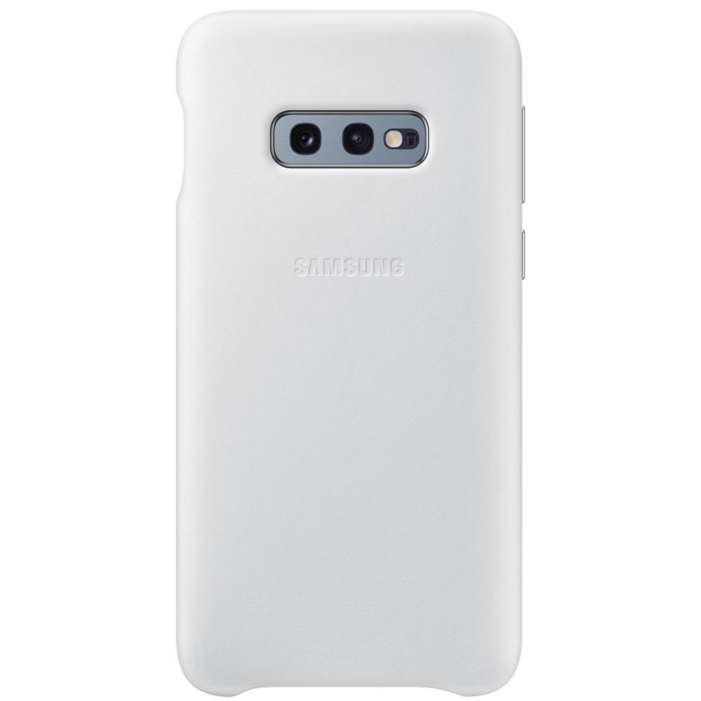 Husa Capac Spate Piele Alb SAMSUNG Galaxy S10E