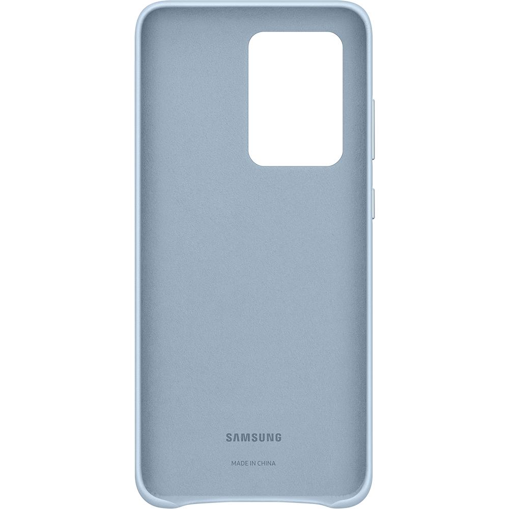 Husa Capac Spate Piele Albastru SAMSUNG Galaxy S20 Ultra