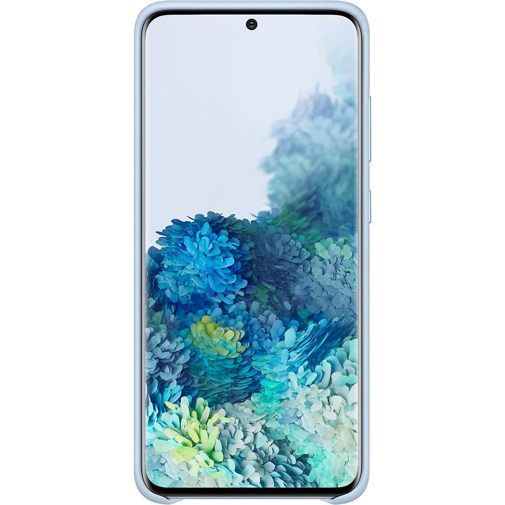 Husa Capac Spate Piele Albastru SAMSUNG Galaxy S20