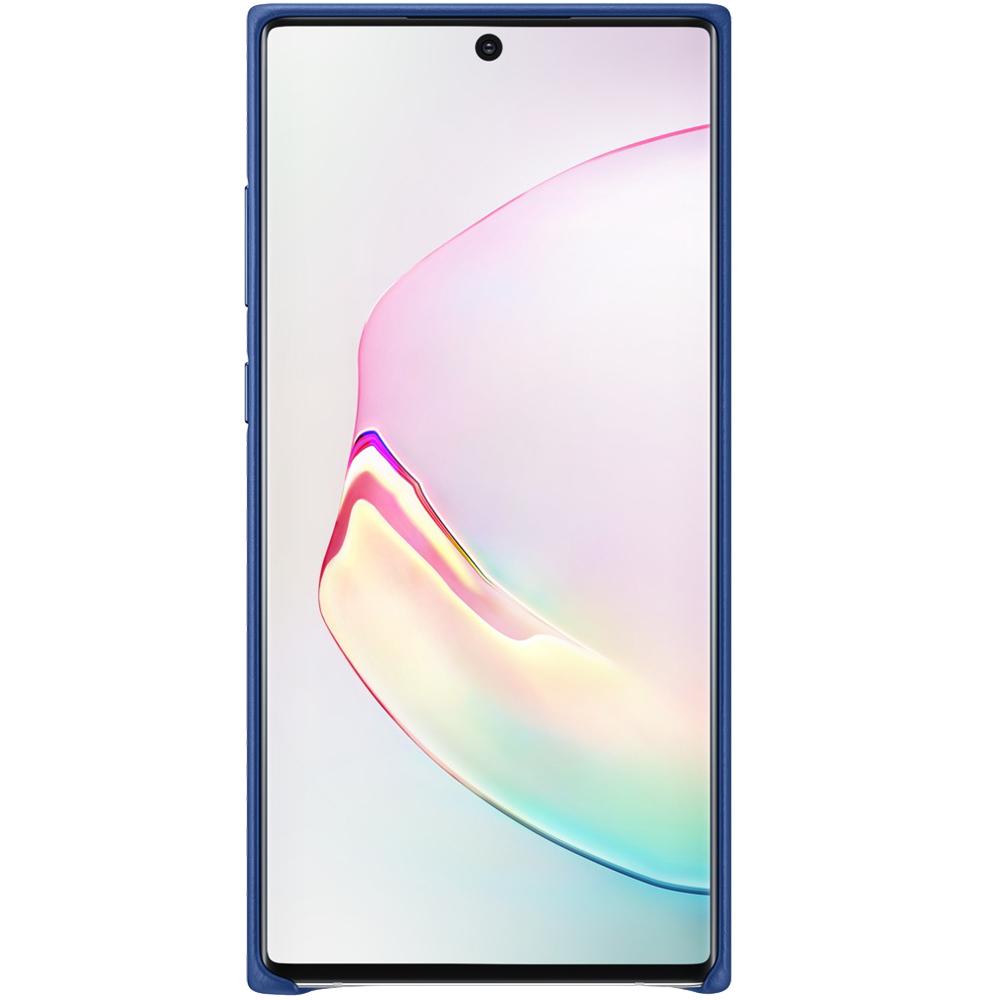 Husa Capac Spate Piele Albastru SAMSUNG Note 10 Plus