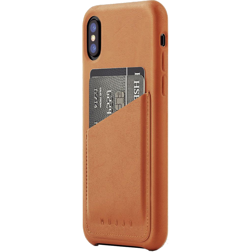 Husa Capac Spate Piele Wallet Maro APPLE iPhone X
