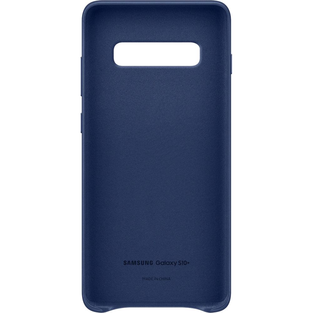 Husa Capac Spate Piele Navy Albastru SAMSUNG Galaxy S10 Plus
