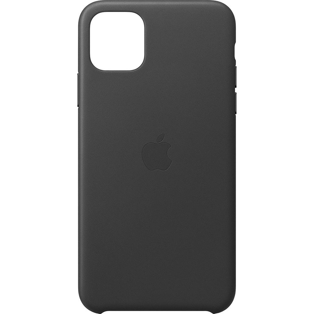 Husa originala din Piele Neagra pentru APPLE iPhone 11 Pro Max