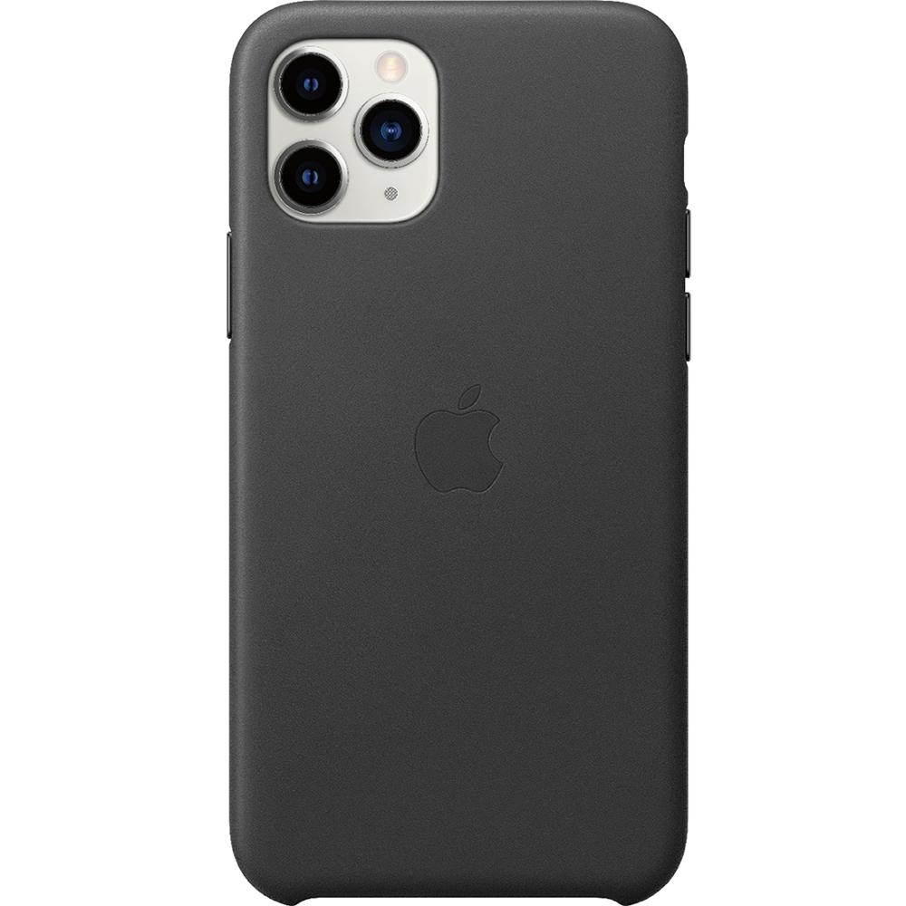 Husa originala din Piele Neagra pentru Apple iPhone 11 Pro