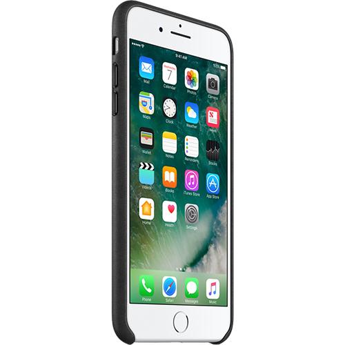 Husa Capac Spate Piele Negru Apple iPhone 7 Plus, iPhone 8 Plus