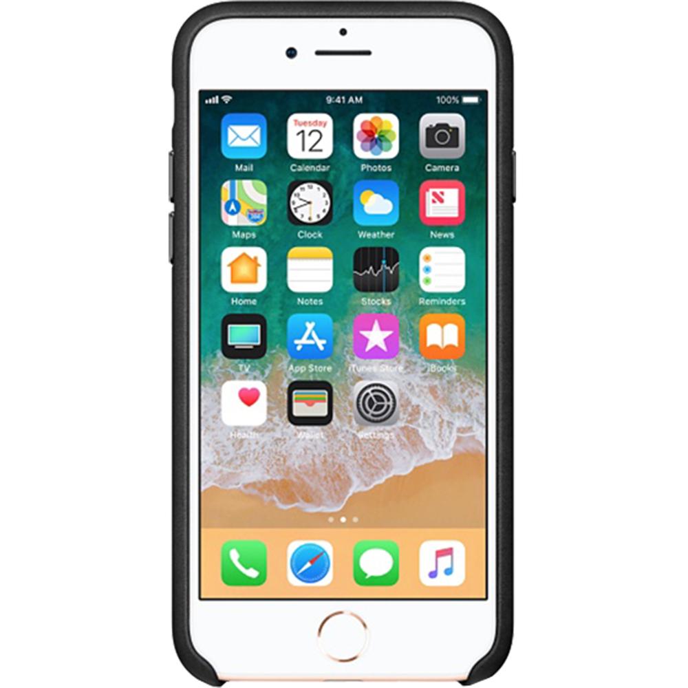 Husa originala din Piele Neagra pentru Apple iPhone 7 si 8