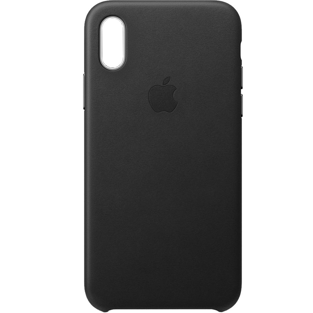 Husa Capac Spate Piele Negru APPLE iPhone XR