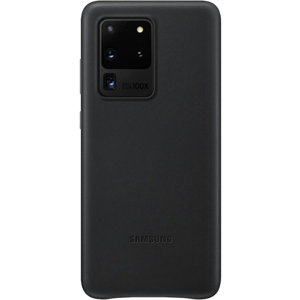 Husa Capac Spate Piele Negru SAMSUNG Galaxy S20 Ultra