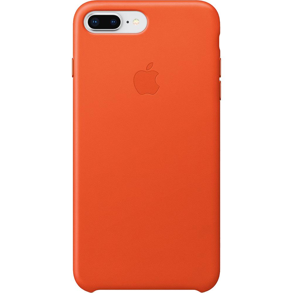 Husa Capac Spate Piele Portocaliu Apple iPhone 7, iPhone 8