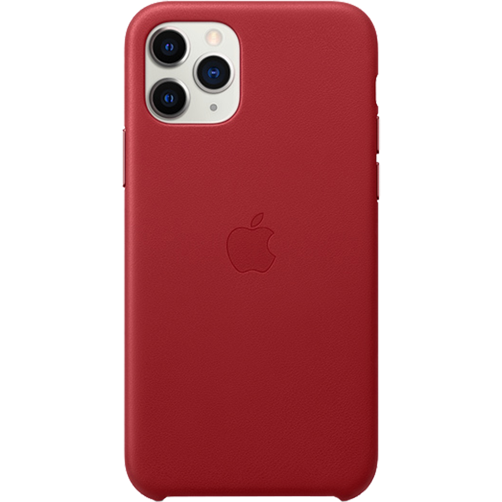 Husa originala din Piele Rosie pentru Apple iPhone 11 Pro