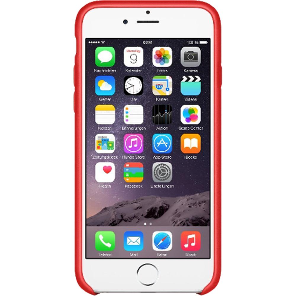 Husa originala din Piele Rosie pentru Apple iPhone 7 si 8