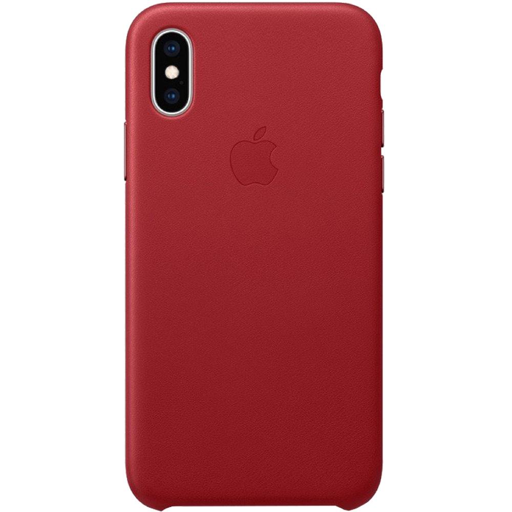 Husa Capac Spate Piele Rosu APPLE iPhone Xs