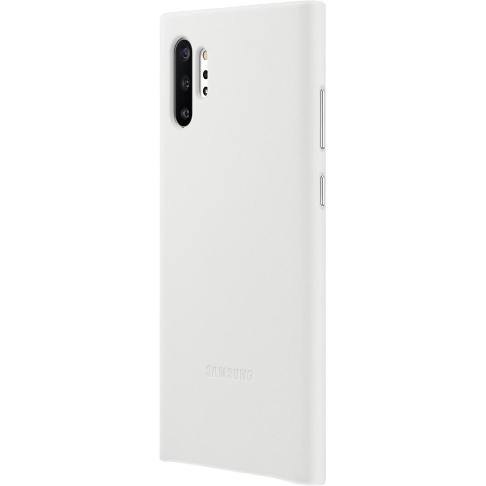 Husa Capac Spate Piele Alb SAMSUNG Note 10 Plus