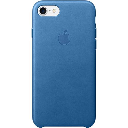 Husa de protectie Apple pentru iPhone 8 / iPhone 7 Piele culoare Sea Blue