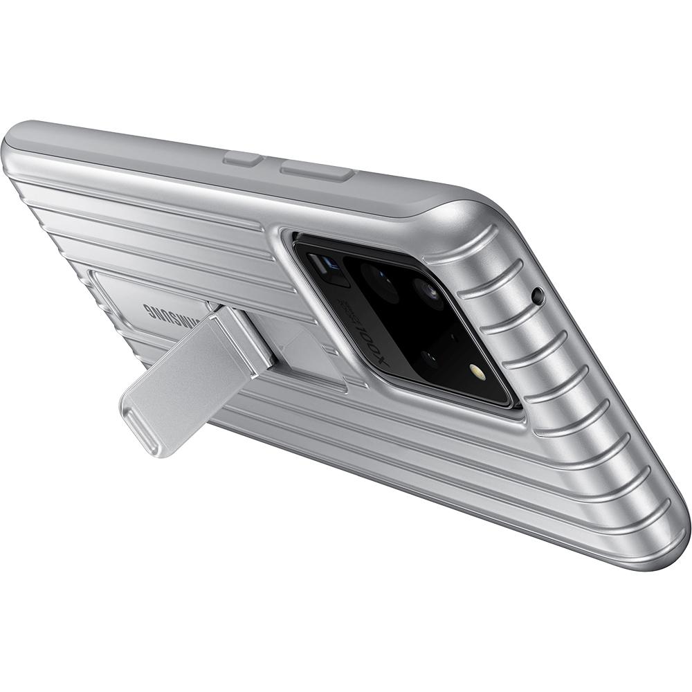 Husa Capac Spate Protective Standing Argintiu SAMSUNG Galaxy S20 Ultra