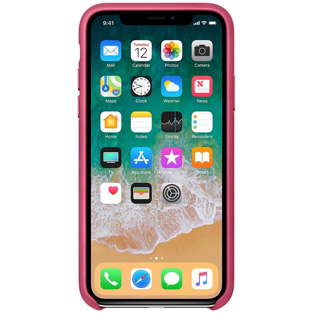 Husa Capac Spate Piele Roz APPLE iPhone X