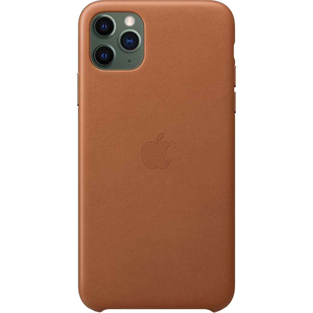 Husa originala din Piele Saddle Maro pentru Apple iPhone 11 Pro Max