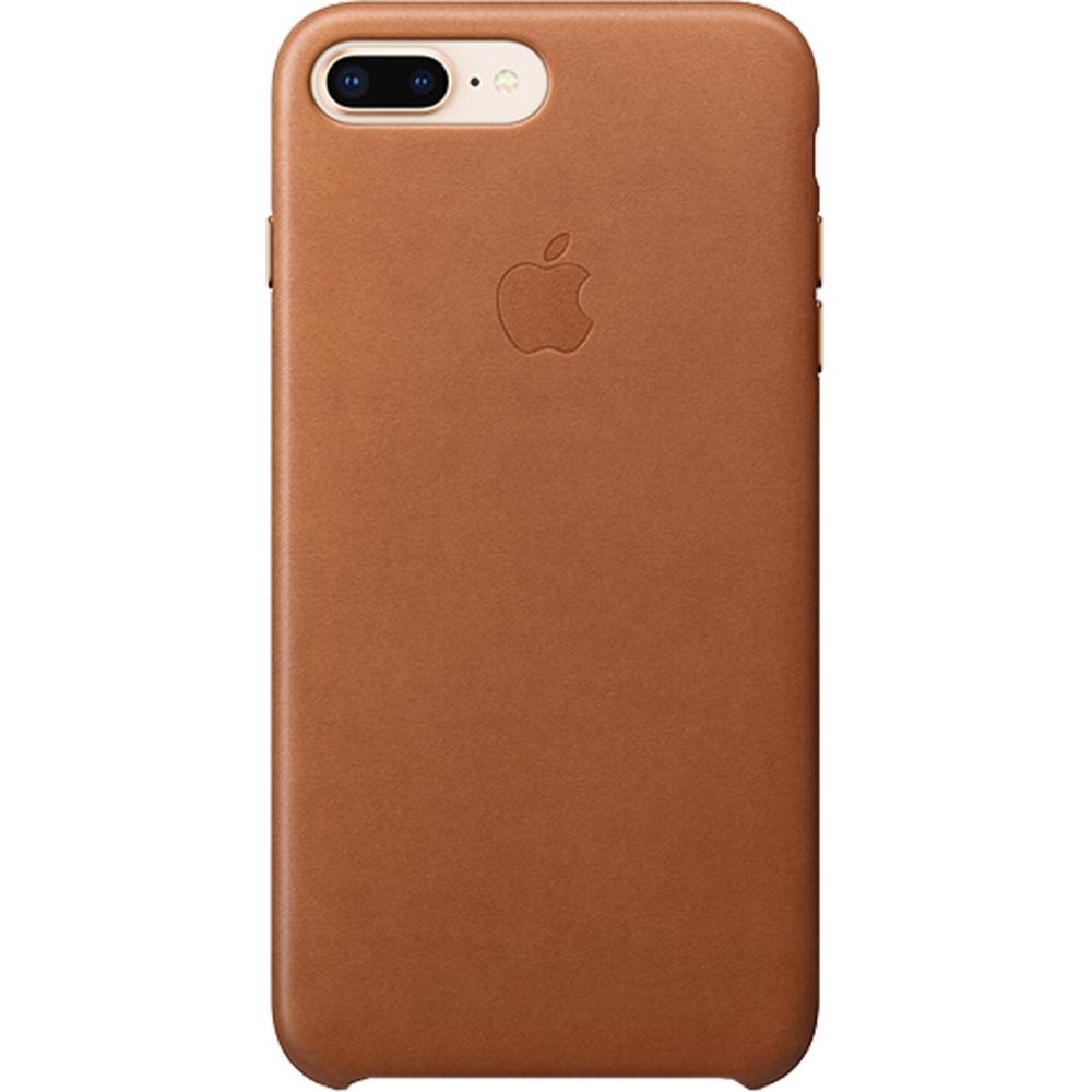 Husa originala din Piele Maro Saddle pentru APPLE iPhone 8 Plus